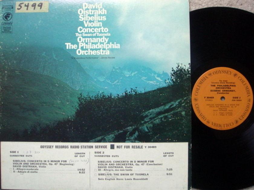 Columbia Odyssey / OISTRAKH-ORMANDY, - Sibelius Violin Concerto, NM, Promo Copy!