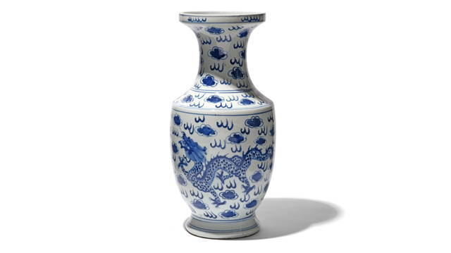 Blue & White Porcelain Fengweizun Dragon Vase | Indigo Antiques