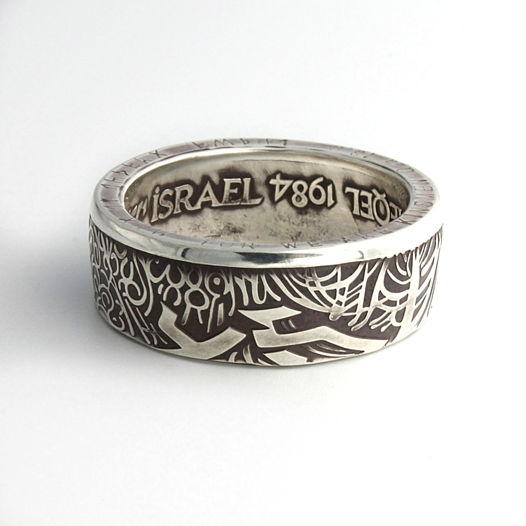 Кольцо из монеты - Израиль 1 шекель 1984