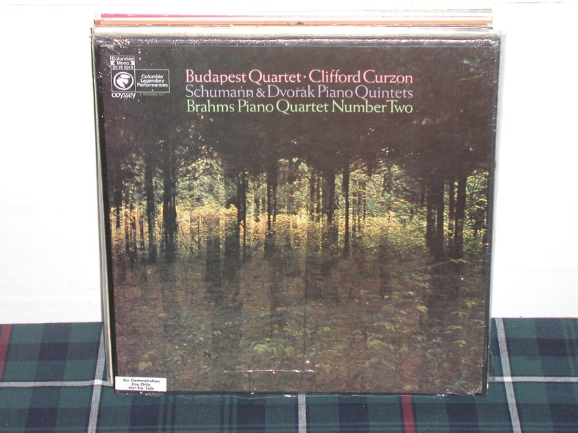 Curzon/Budapest Qtet - Schumann/Dvorak Columbia 2lp box sealed