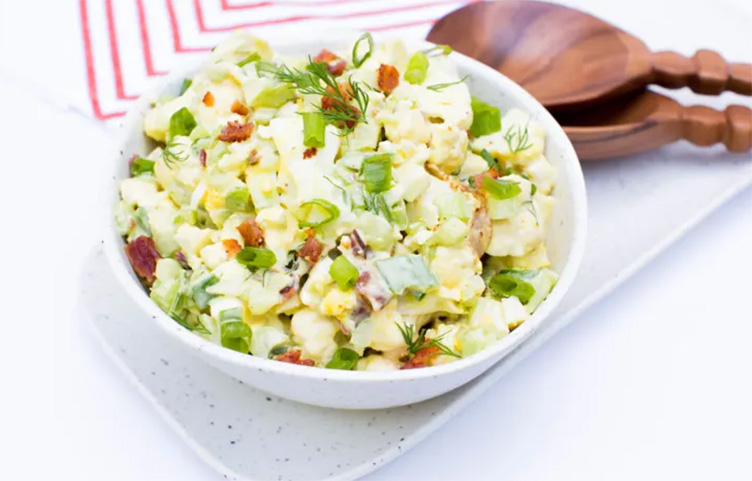 Keto no-potato salad