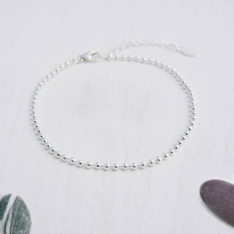 Браслет цепочка из серебра «Шарики»