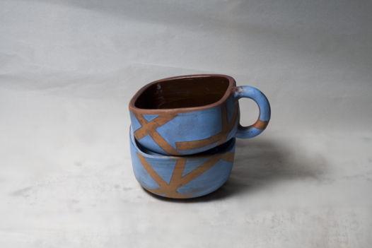 Набор из квадратной чашки и миски Улуру