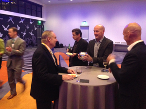 Greg Friedman, Gerald Graves, Doug Heikkenen and Tom Lydon at Vestorly/Wealth Access party.
