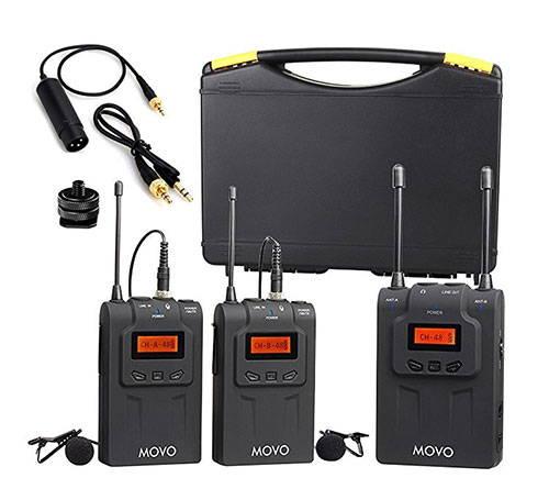 MOVO WMIC80 UHF Wireless Lavalier Microphone
