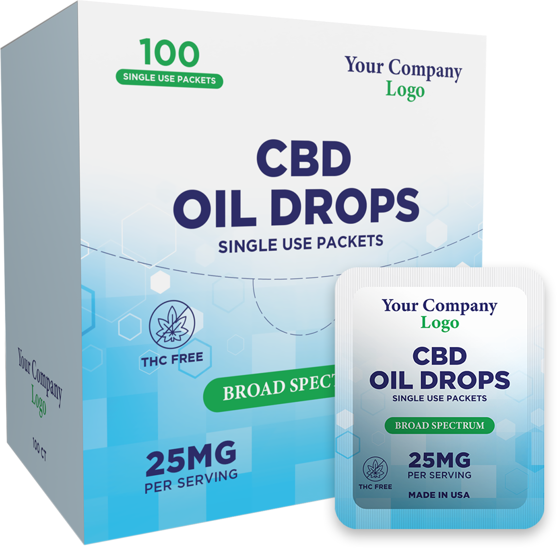 CBD Oil Drop Tincture - 250mg, 300mg, 500mg, 1000mg, 2000mg, 1500mg