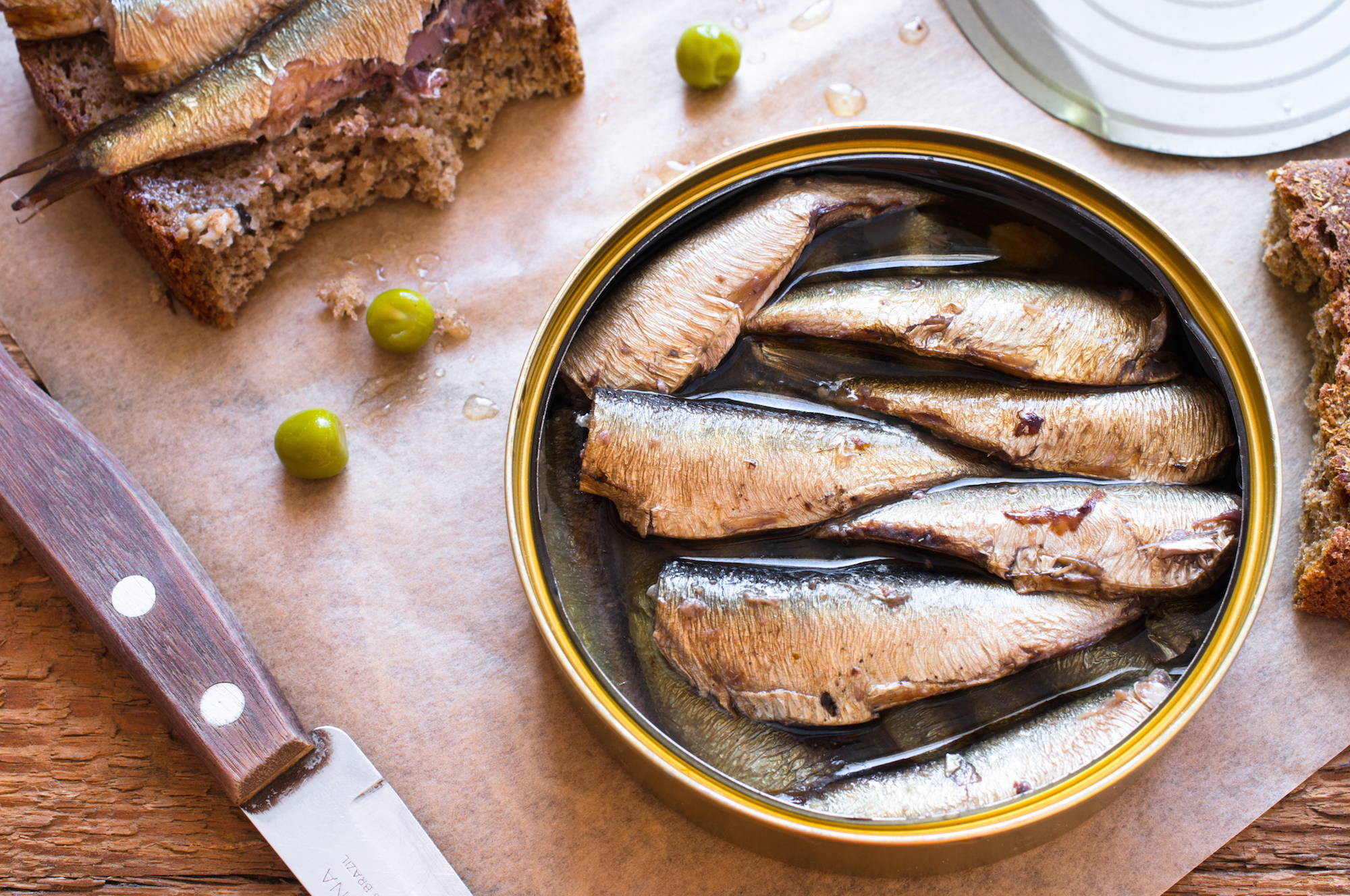 Eating sardines contributes towards a healthy diet in menopause