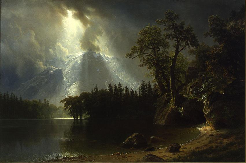 Albert Bierstadt, Passing Storm over the Sierra Nevadas