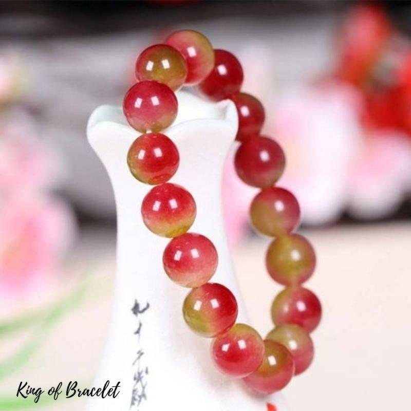 Bracelet en Perles de Tourmaline Pastèque - King of Bracelet