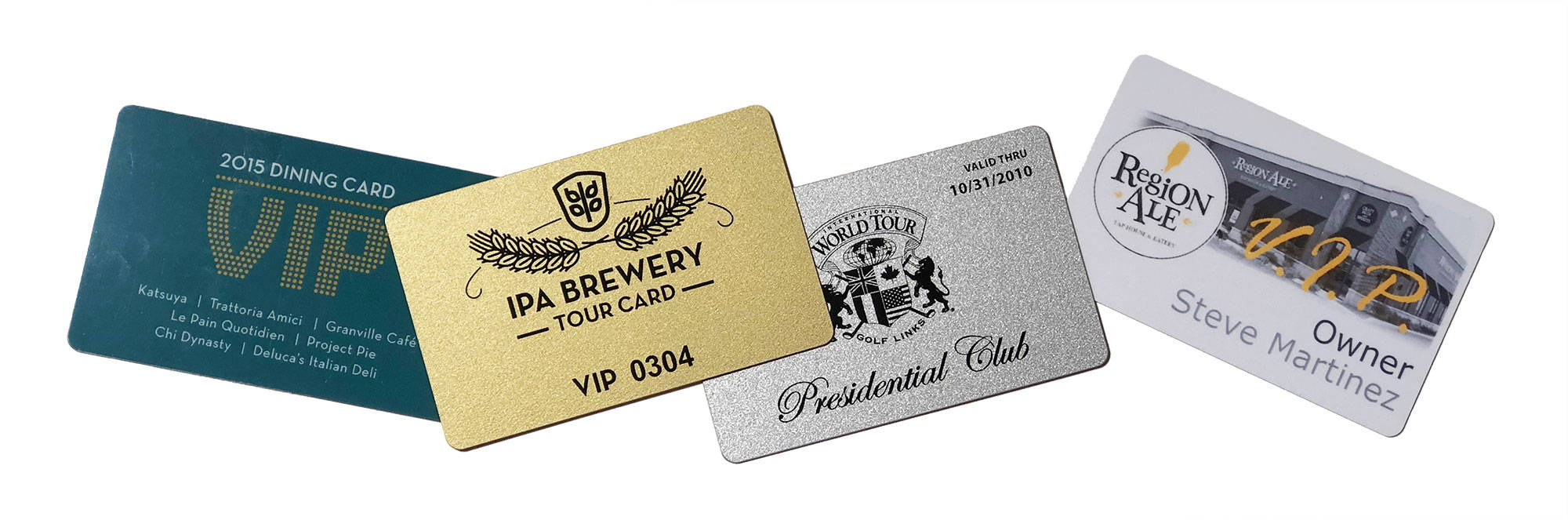 custom printed vip plastic cards