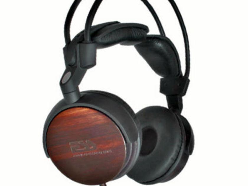 ESS rm-713 Real Ebony Wood Premium High End Headphones Natural