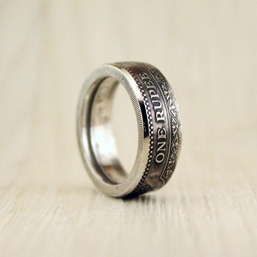Кольцо из монеты (Цейлон) 2500 лет буддизму