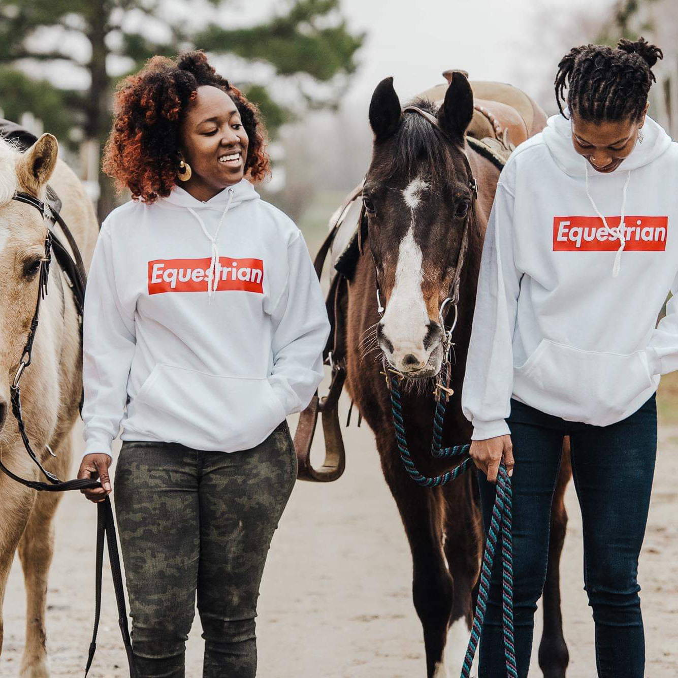 Founders/creators of Young Black Equestrians podcast