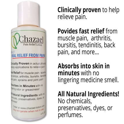 chazael pain relief lotion