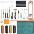 handmade leather crafting set for beginners