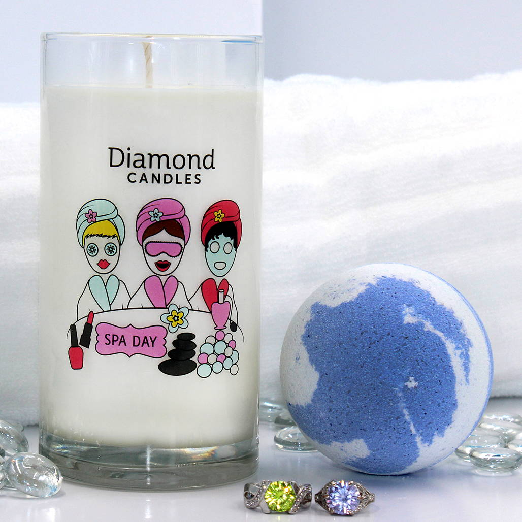 Diamond Candles Spa Day Ring Candle Ring Bath Bomb Set Diamond Candle