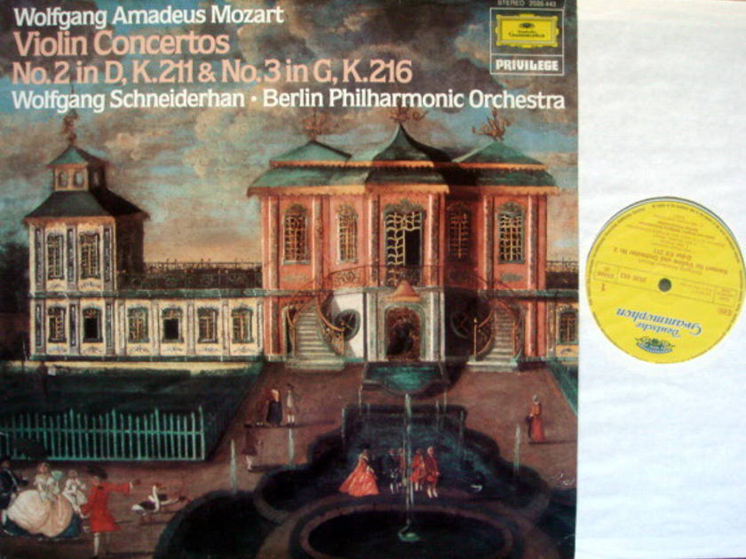 DG / SCHNEIDERHAN-BPO, - Mozart Violin Concerto No.2 & 3, MINT!