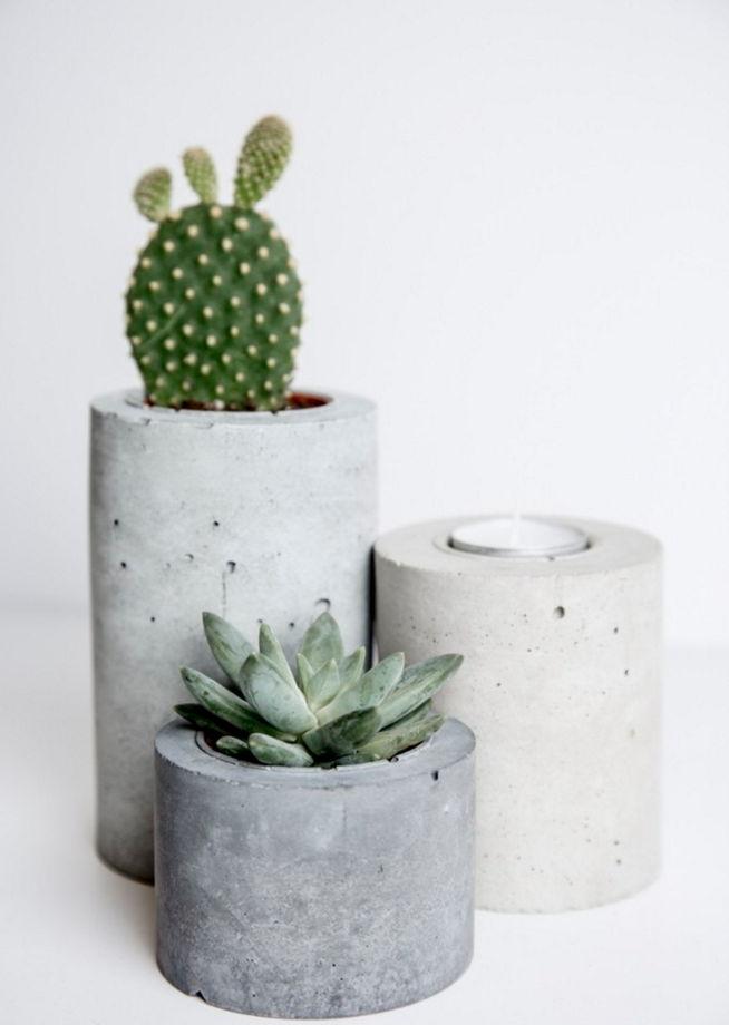 Комплект бетонных цилиндров разных размеров