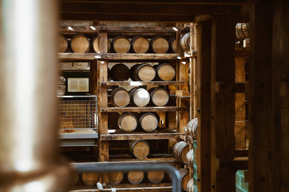 Inside a barrel unit demonstrating the importance of the duration of ageing and location have on wine taste.