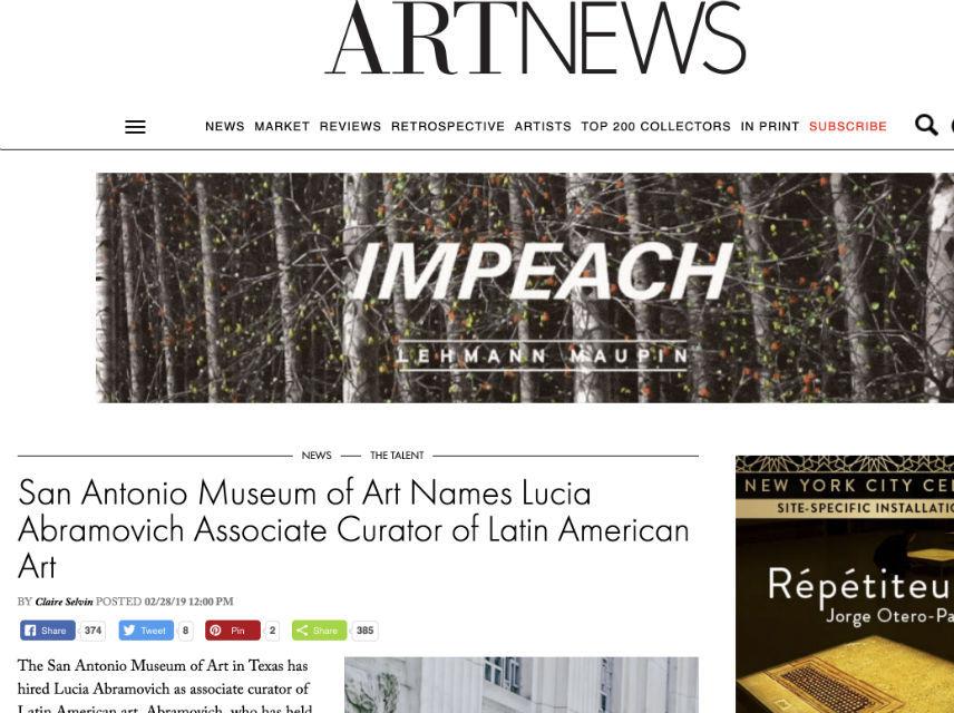 Art News: Lucia