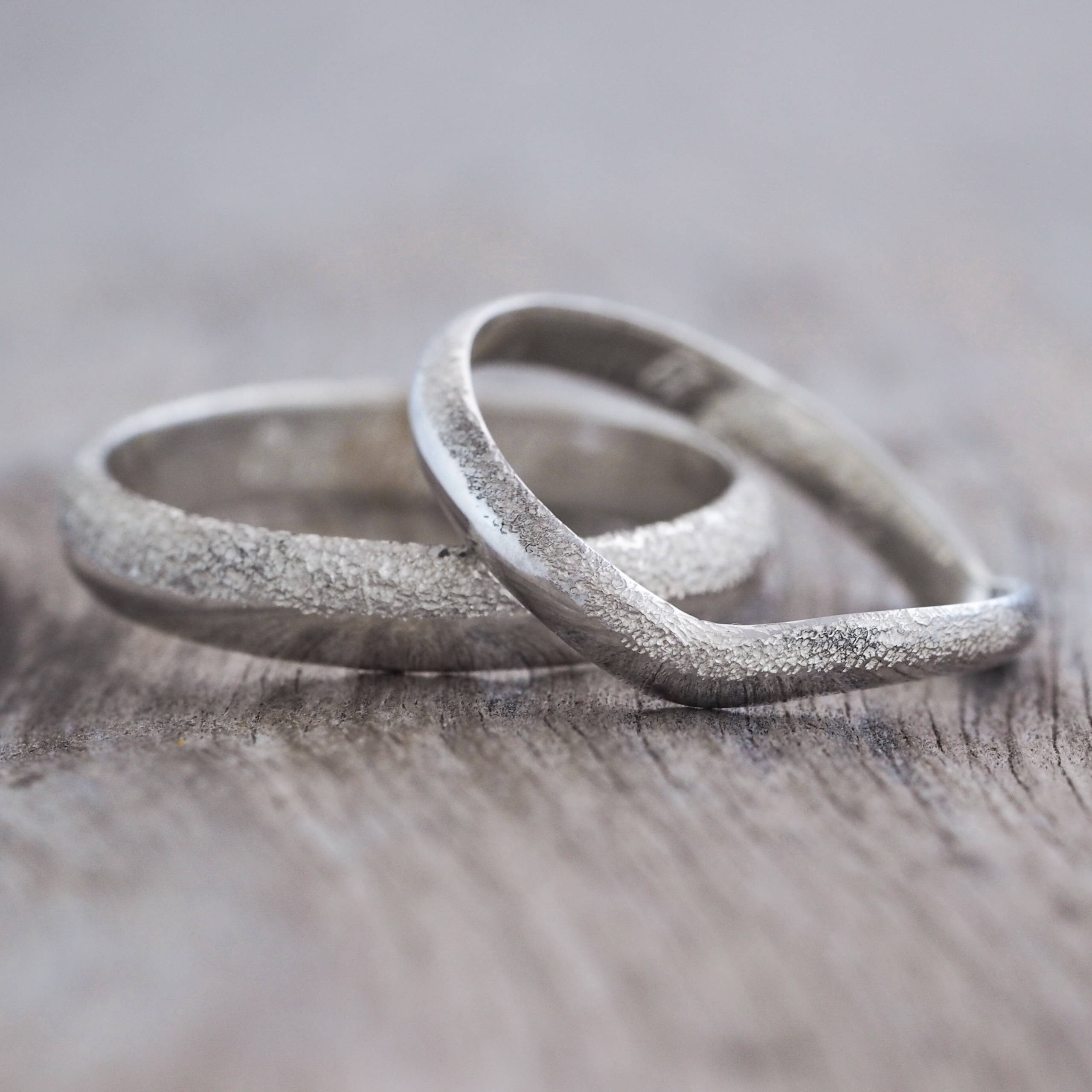 Stardust Wedding Band in silver.
