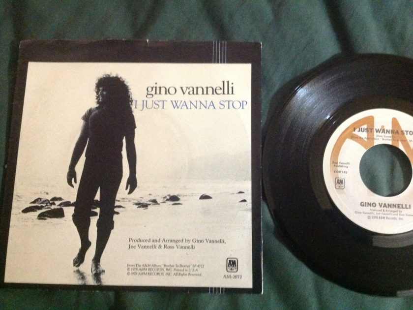 Gino Vannelli - I Just Want To Stop 45 With Sleeve NM