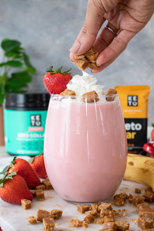 Keto Strawberry Banana Smoothie