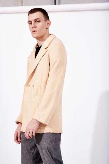Трикотажный пиджак с необработанным краем
