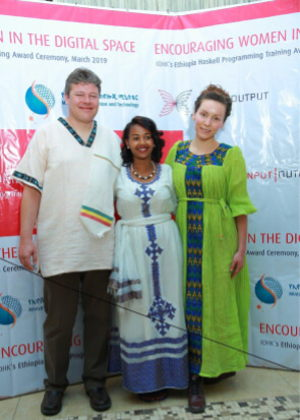 Lars, Bethel Tadesse, and Polina Volgradova