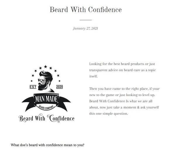 Man Made beard co - beard with confidence