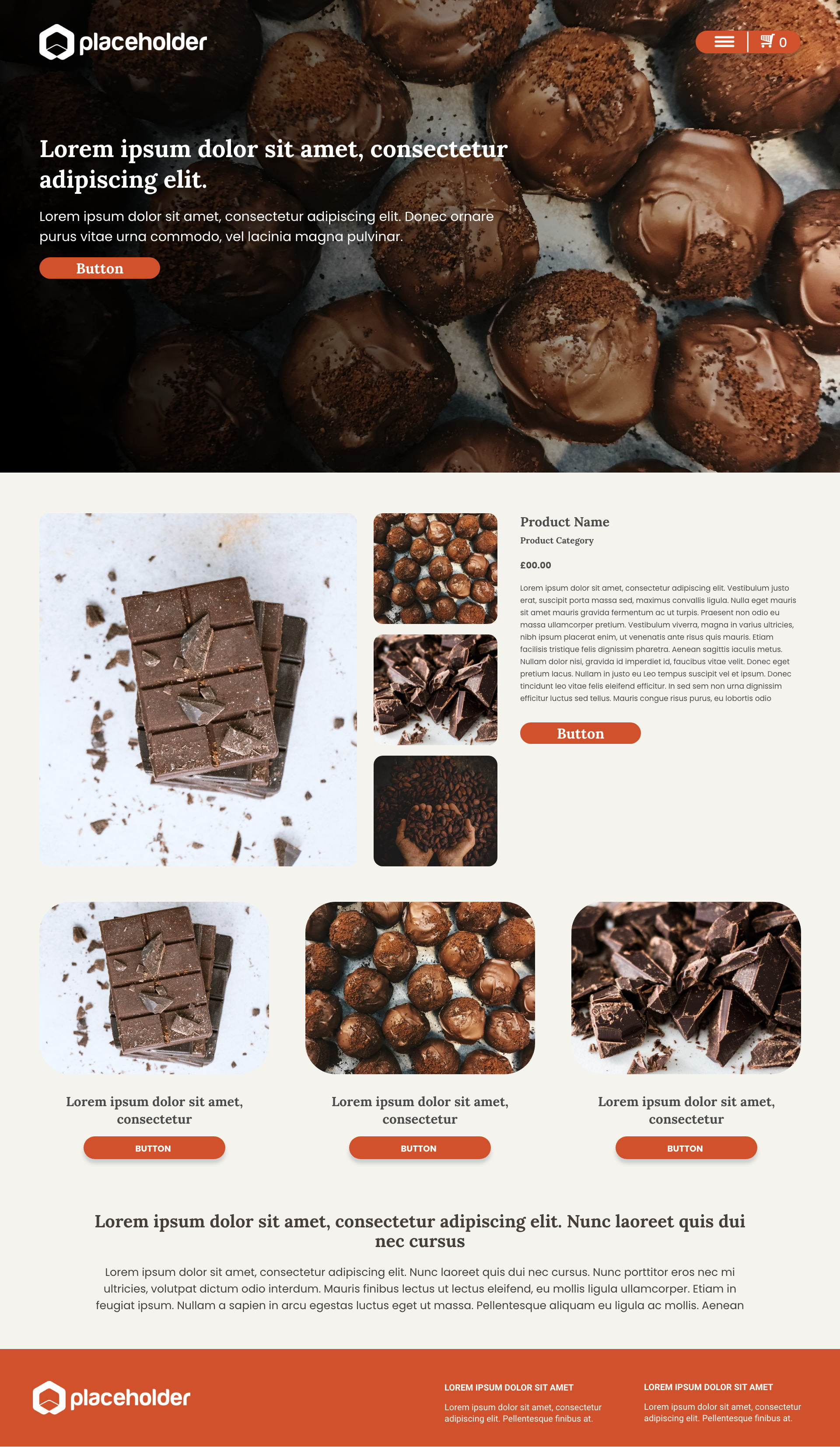 Chocolate template's gallery image