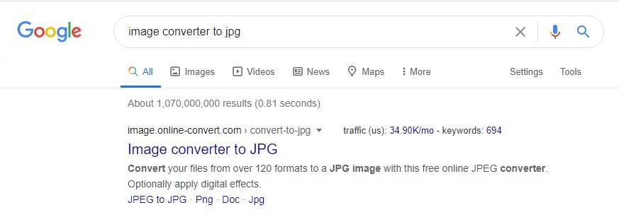 the top search result is image.online-convert.com