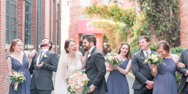 Outdoors inside in this industrial chic wedding