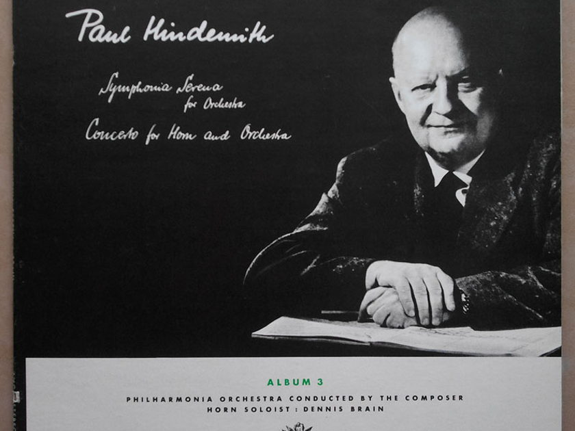 ANGEL   PAUL HINDEMITH - Symphonia Serena, Horn Concerto (Dennis Brain) / composer conducting Philharmonia Orchestra / NM