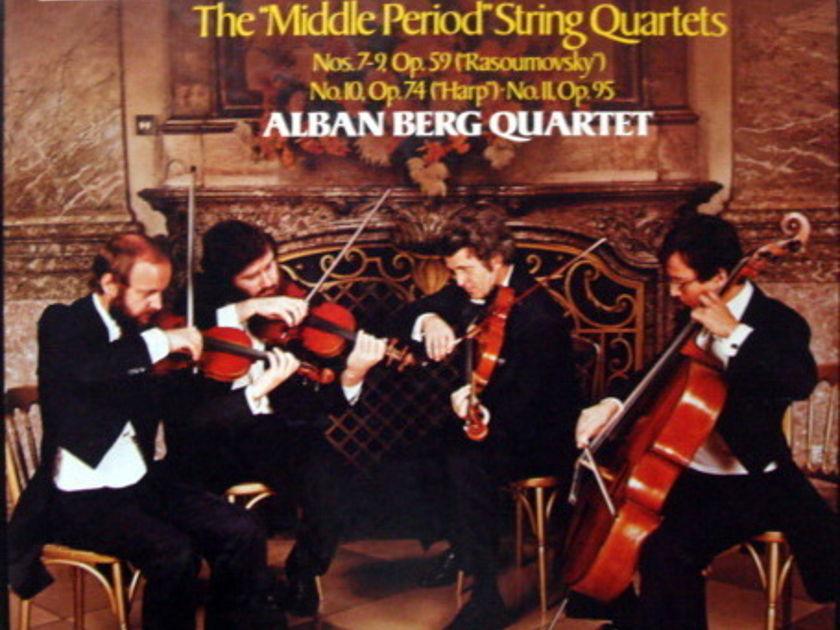EMI Angel Seraphim / ALBAN BERG QT, - Beethoven The Middle Quartets, MINT, 3LP Box Set!