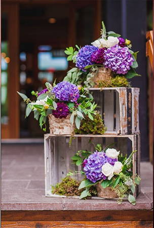 rustic box flower tower
