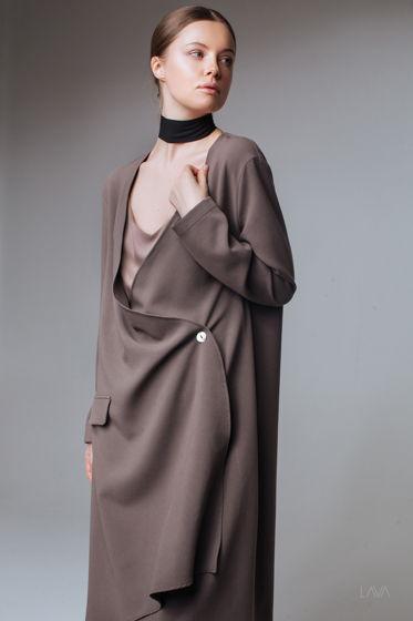 Платье дизайнерское с запахом кофе