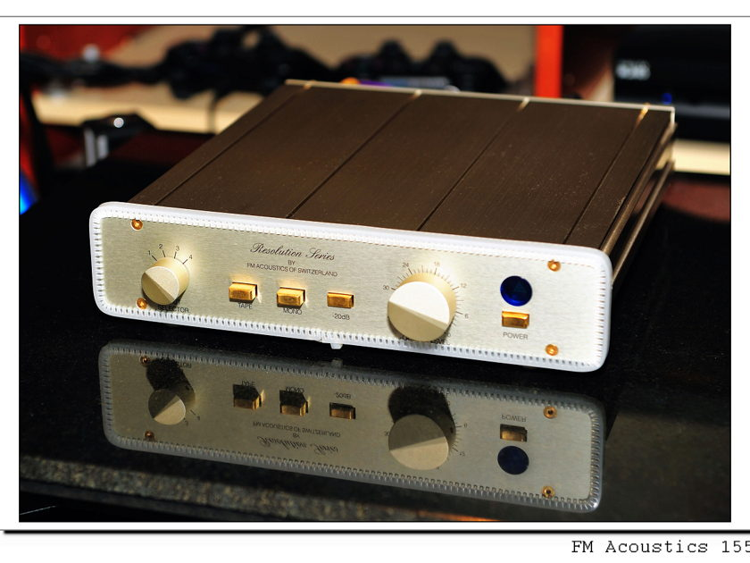 FM Acoustics Resolution Series FM 155 Line Stages / Preamplifiers