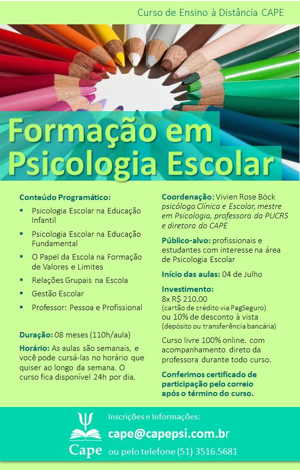 Formação em Psicologia Escolar