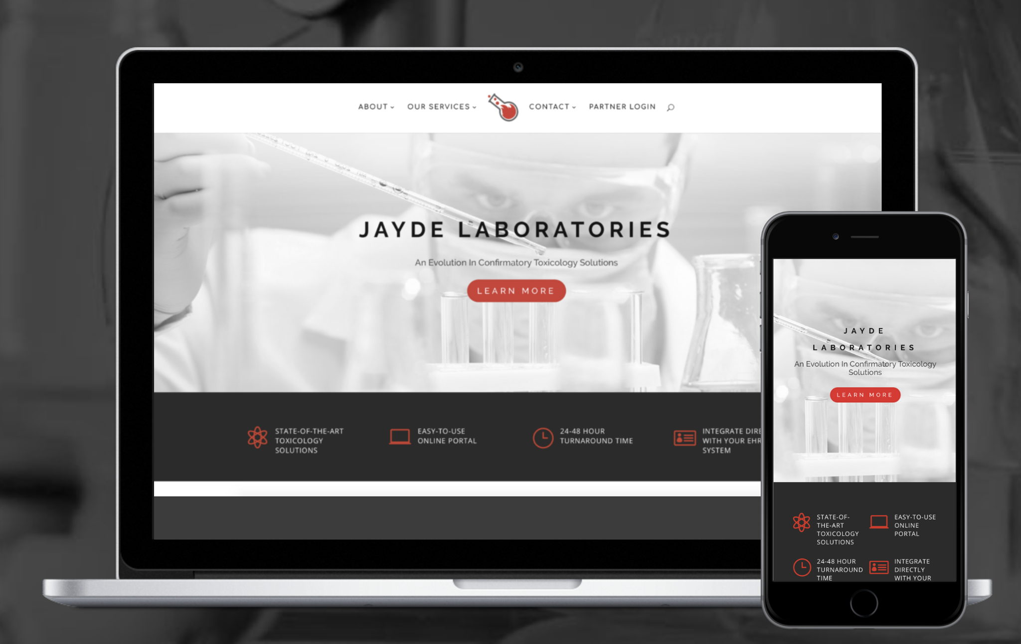 Responsive Website Design for Laboratory