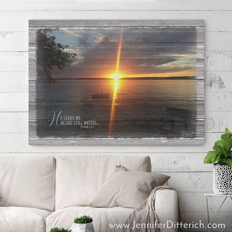 Personalized Lake Print