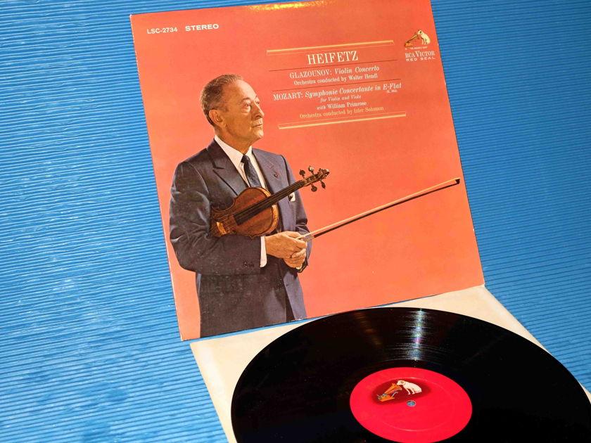 """GLAZOUNOV / MOZART / Heifetz - """"Concerto / Concertante"""" -  RCA 'Shaded Dog' 1964 8S/3S"""