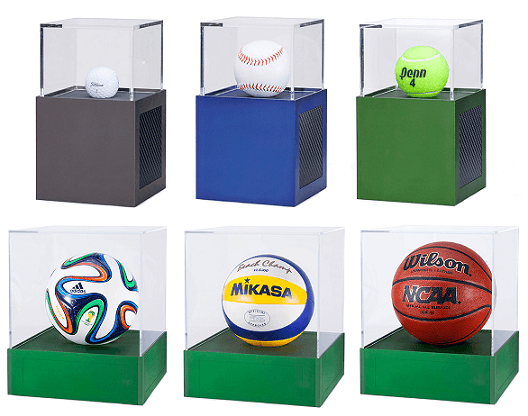 basketball soccer tennis display case aluminum