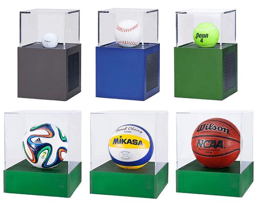 basketball soccer tennis display case aluminum