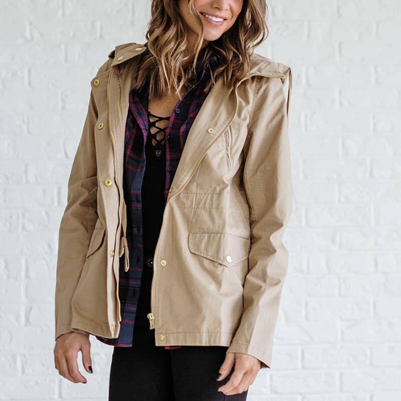 cargo jacket for women from bella ella boutique