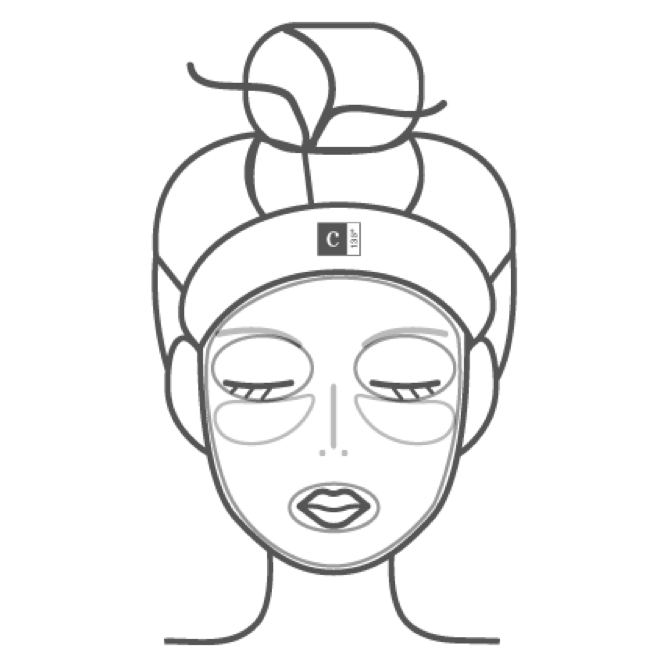 grey icon of women receiving facial treatment