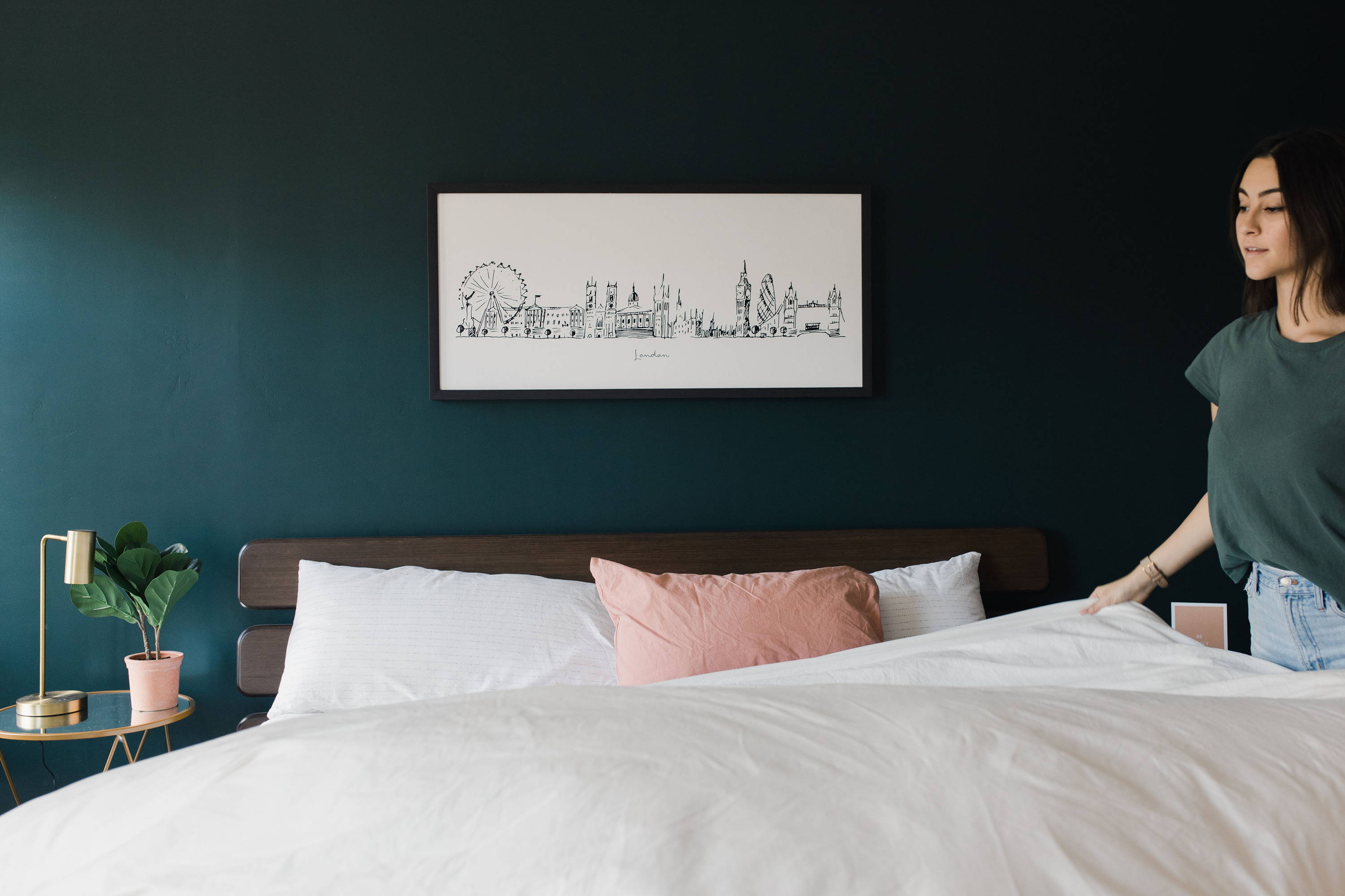 city scape line drawing wall art
