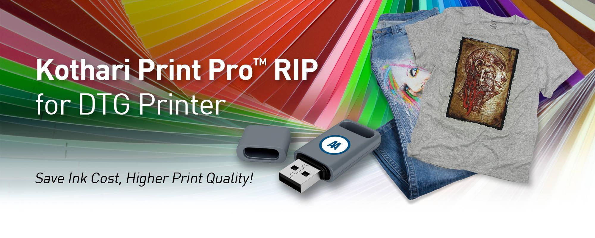 Kothari Print Pro Rip Software for DTG Printer