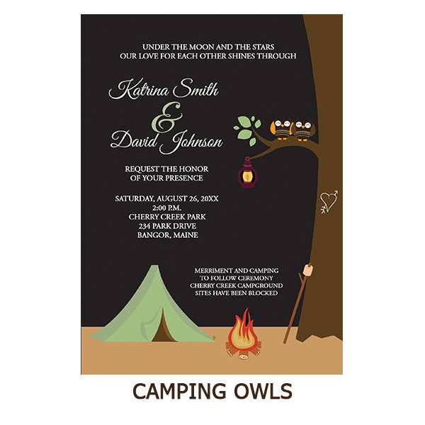 Camping Owls Nature Lovers Wedding Suite