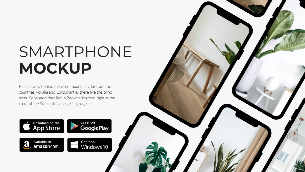 Modern X App/Software Showcase Presentation Template Smartphone Features